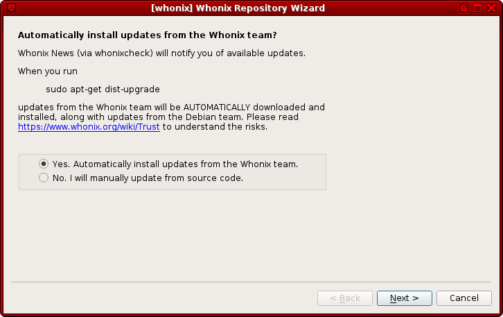 Whonix Repository Wizard install updates.png
