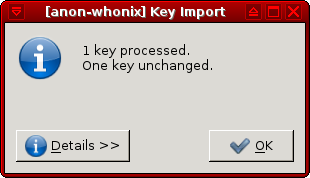 KGpg Import Patricks's previously imported key .png