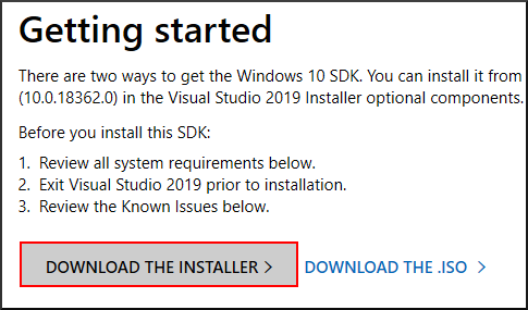Get windows sdk installer.png