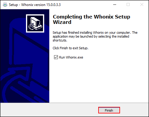 Whonix setup wizard complete.png