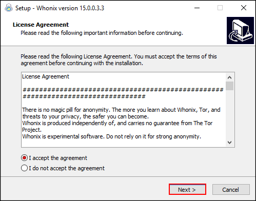 Whonix windows installer license agreement.png